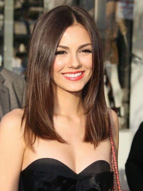 Below Shoulder Length Haircut With Bangs