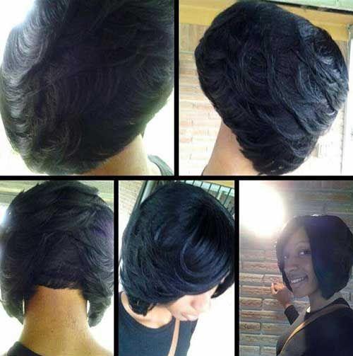 Black Hair Bobs Layered Haircut