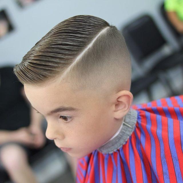 Boys Comb Over Haircut Fade