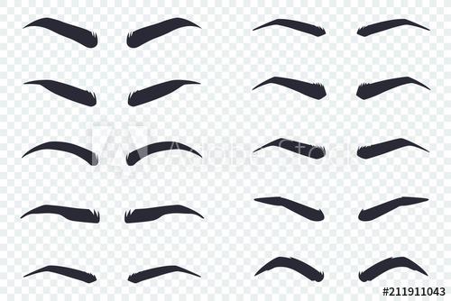 Cartoon Eyebrows Transparent Background
