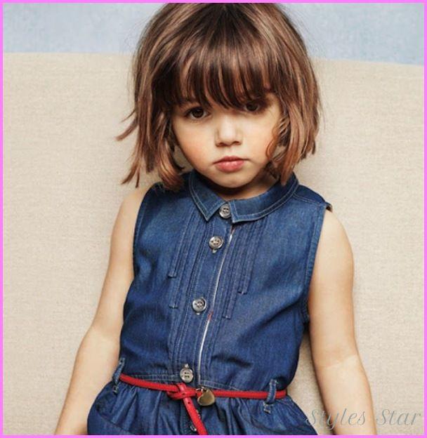 Cute Little Girl Short Haircuts With Bangs