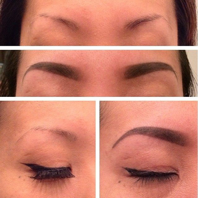 Tattoo Eyebrows Before And After Pictures