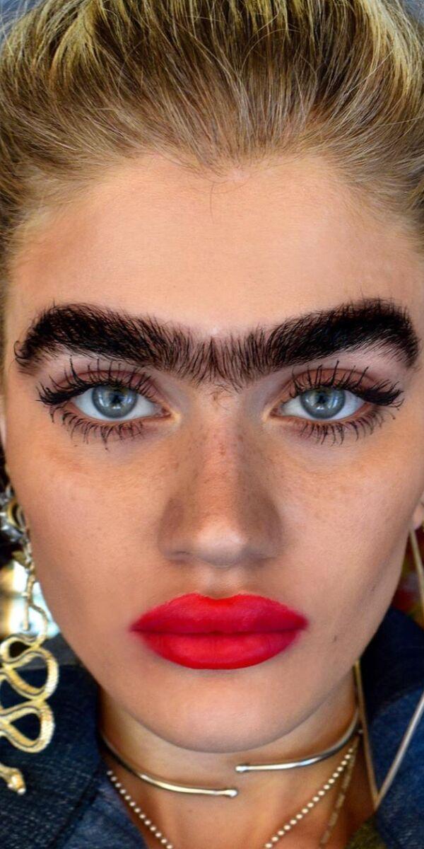 Thick Bushy Eyebrows Girl
