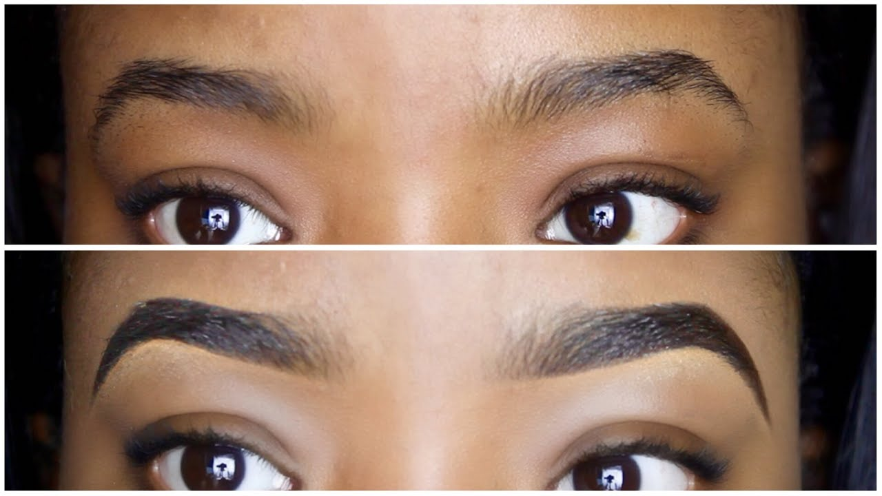 EASY EYEBROW TUTORIAL || HOW TO DRAW & FILL IN YOUR ...